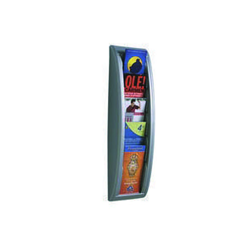 Fast Paper Quick Fit System Wall Display 5 x 1/3 A4 Silver 4062.35