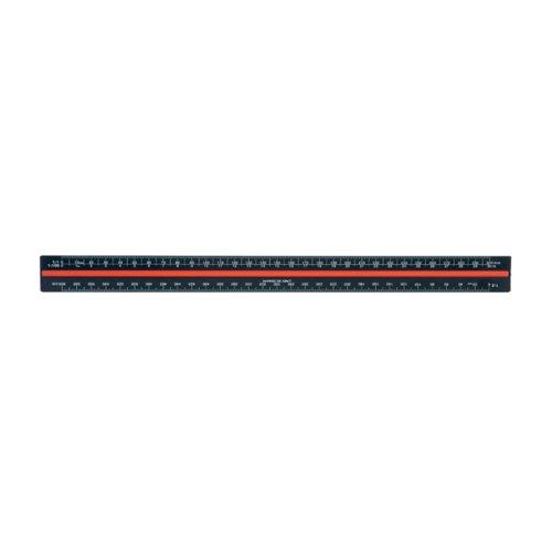 Linex Triangular Scale Ruler 1:1-2500 30cm Aluminium Black H382