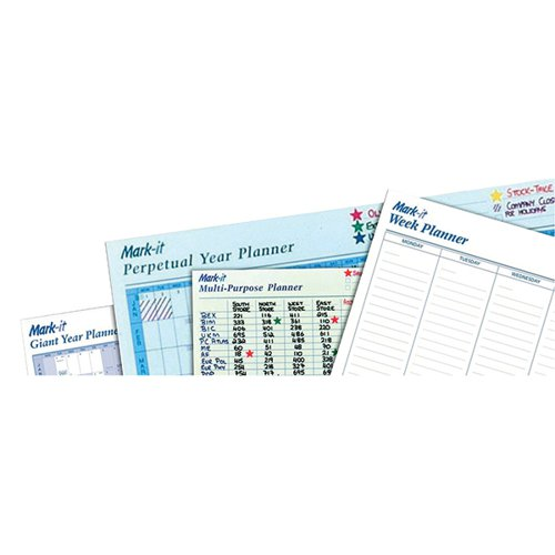 Mark-it Perpetual Month Wipe on/ Wipe off Planner