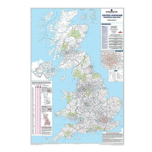 Image for Map Marketing UK Postcode Areas Laminated Map BIPA