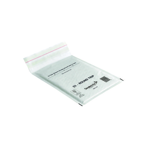 Mail Lite Round Trip Padded Mailer D1 180 x 260mm White (Pack of 100) 100935833
