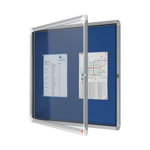 Nobo Internal Glazed Case Fabric Inner 6 x A4 Blue 1902555