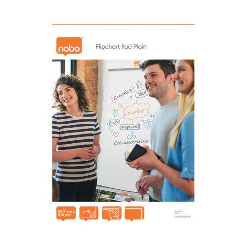 Nobo Plain Flipchart Pad A1 40 Sheet (Pack of 5) 34631165