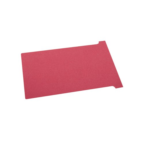 Nobo T-Cards A50 Size 2 Red 32938906 (PK100)