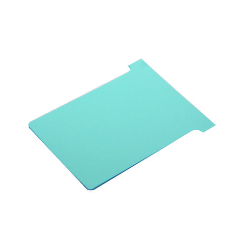Image for Nobo T-Card Size 2 48 x 85mm Light Blue (Pack of 100) 2002006