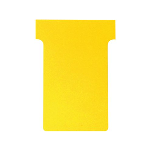 Nobo T-Card Size 3 80 x 120mm Yellow (Pack of 100) 2003004