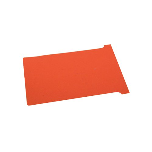 Nobo T-Card Size 3 80 x 120mm Red (Pack of 100) 2003003