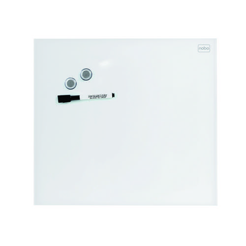 Nobo Diamond Glass Magnetic Whiteboard 300x300mm Green 1903956