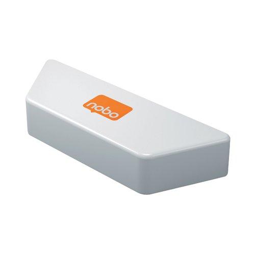 Nobo Magnetic Whiteboard Eraser White 1905325