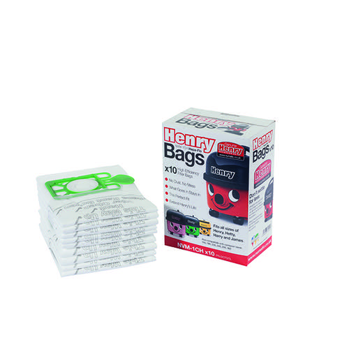 Image for Numatic Vacuum Cleaner Bags For Henry Vacuum Cleaners (Pack of 10) KNI1C