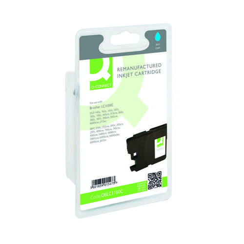 Q-Connect Brother Remanufactured Cyan Inkjet Cartridge LC1100C