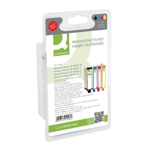 Q-CONNECT HP 364XL INK CART HY COL PK4