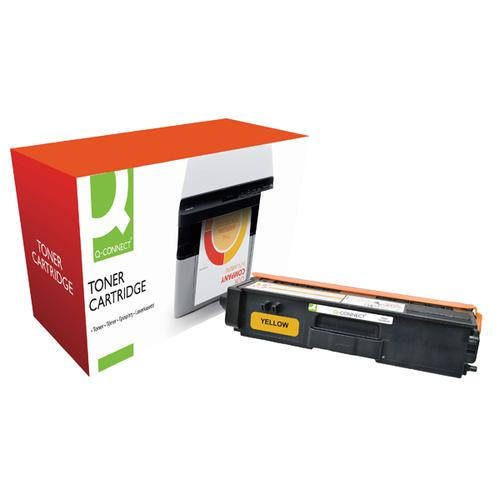 Q-Connect Brother Remanufactured Yellow Toner Cartridge TN320Y