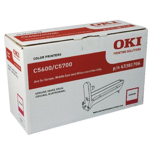 OKI C5600 MAGENTA IMAGE DRUM 43381706