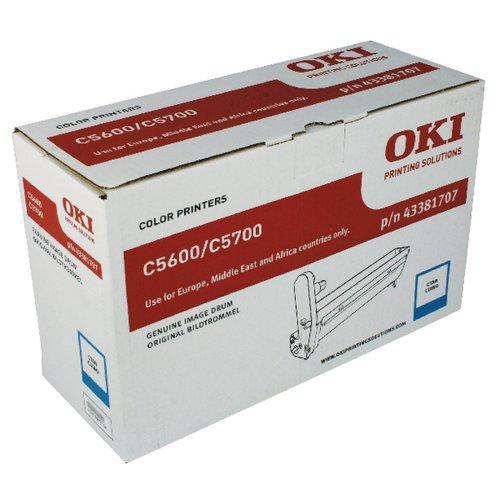 OKI C5600 CYAN IMAGE DRUM 43381707