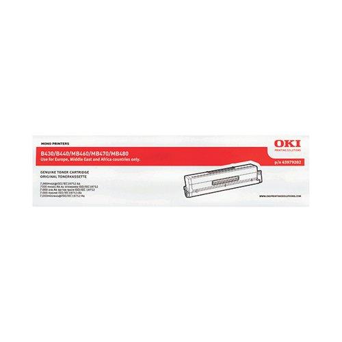 Oki Black Toner Cartridge High Capacity (Capacity: 7000 pages) 43979202