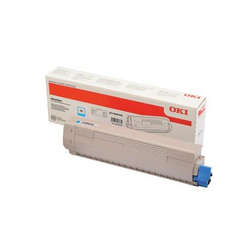 Oki C833 Cyan Toner 843 (10000 Page Capacity) 46443103