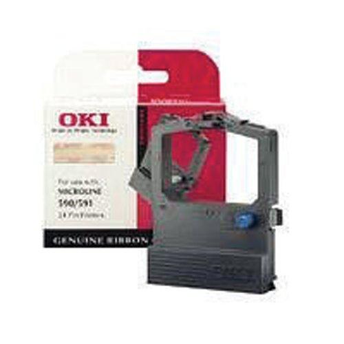 Oki Black Fabric Ribbon For Microline 520/521 9002315