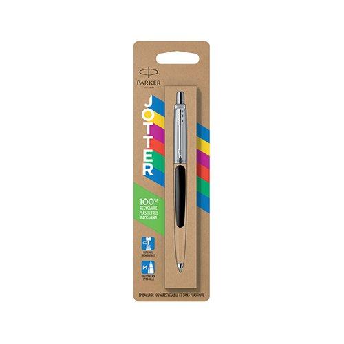 Parker Jotter Ballpoint Pen Medium Tip Black Barrel Blue Ink 2096873
