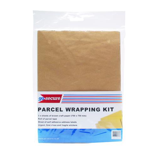 GoSecure Parcel Wrapping Kit (Pack of 10) PB02291
