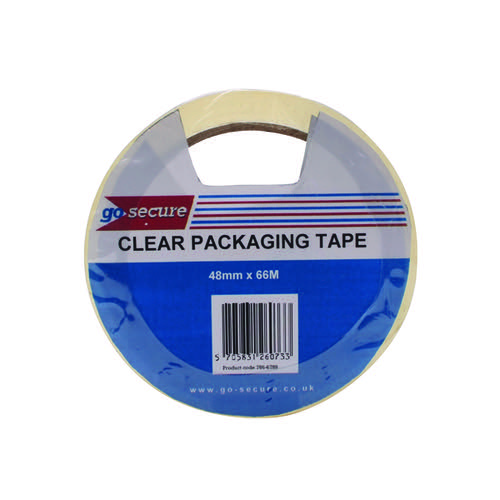 GoSecure Packaging Tape 50mmx66m Clear (Pack of 6) PB02297