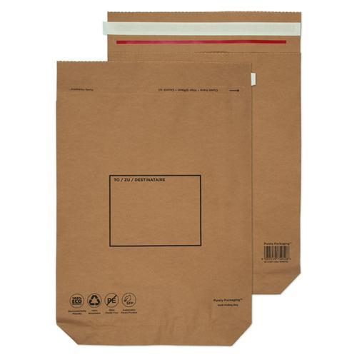 Purely Packaging Brown P&S Kraft Bag 480x380mm PK100