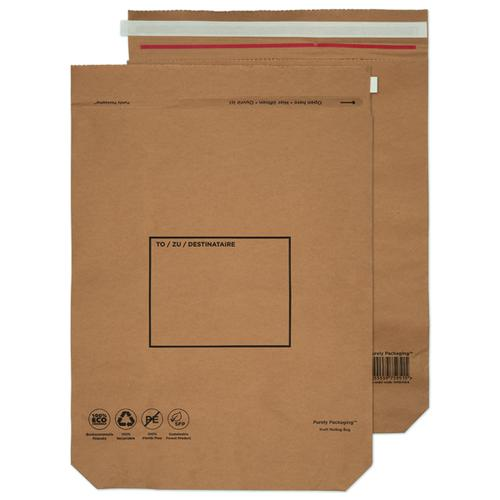 Purely Packaging Brown P&S Kraft Bag 600x480mm PK50