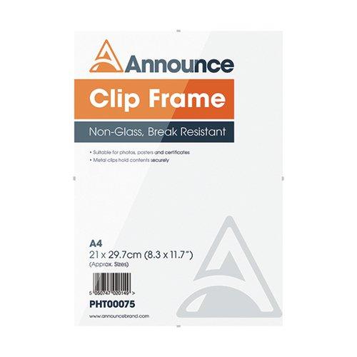 Announce Metal Clip Frame A4 PHT00075