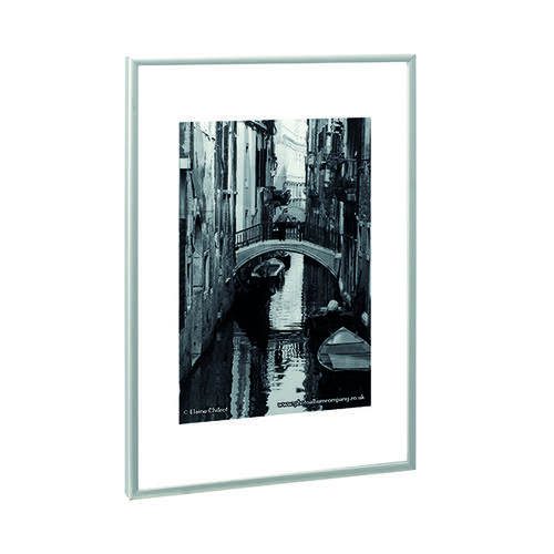 Photo Album Co A4 Certificate Frame Aluminium Satin Finish Silver