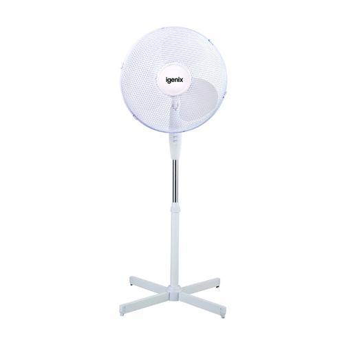 Igenix 16in Pedestal Fan White DF1655