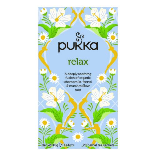 Pukka Relax Tea Pack of 20 (Organic and Caffeine Free) P5003