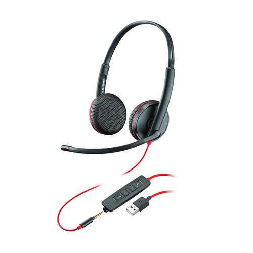 Plantronics Blackwire Binaural C3225 USB-A 209747-101
