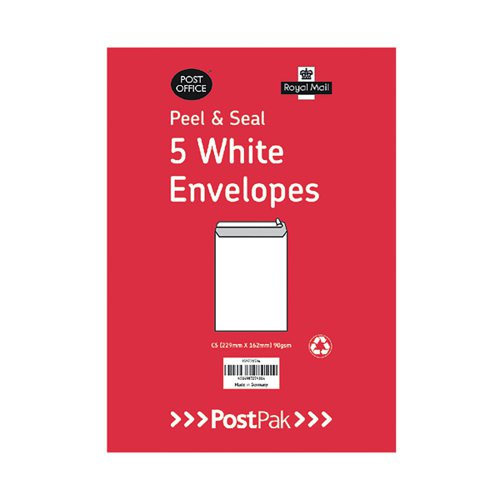 Envelopes C5 Peel and Seal White 90gsm (Pack of 250) 9731534