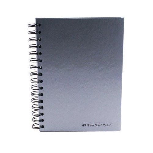 Pukka Pad A5 Wirebound 160 Page Silver PK5