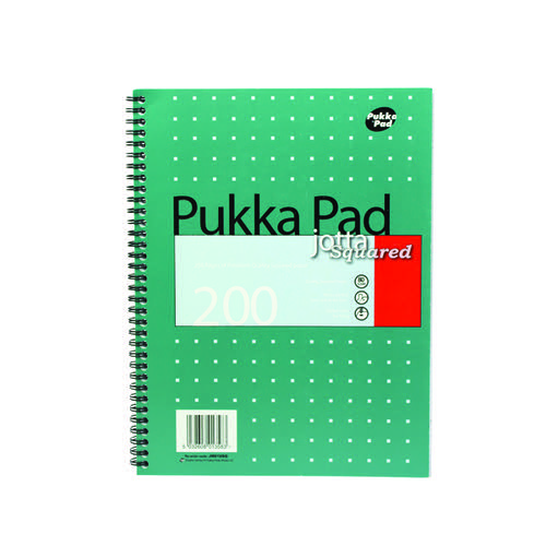 Pukka Square Wirebound Metallic Jotta Notepad 200 Pages A4 (Pack of 3) JM018SQ