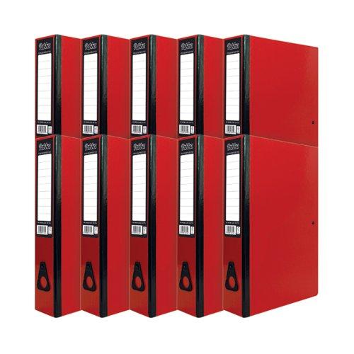 Pukka Brights Box File Foolscap Red Box of 10