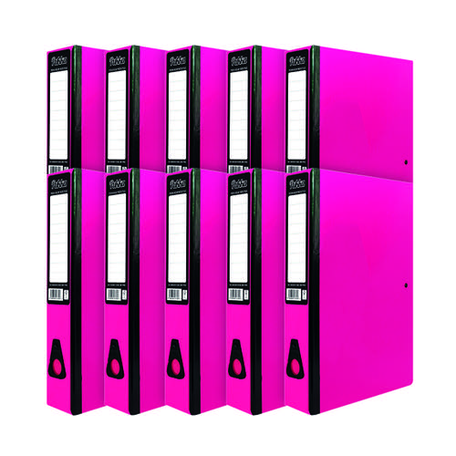 Pukka Brights Box File Foolscap Pink (Pack of 10) BR-7780