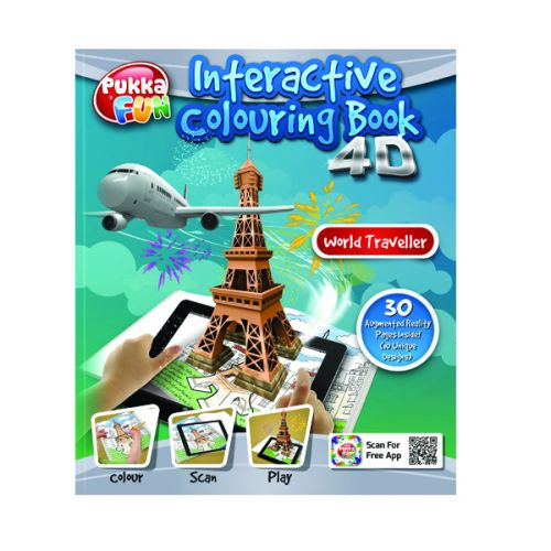 Pukka Fun Interactive Colouring Book 4D World Traveller 8423-FUN