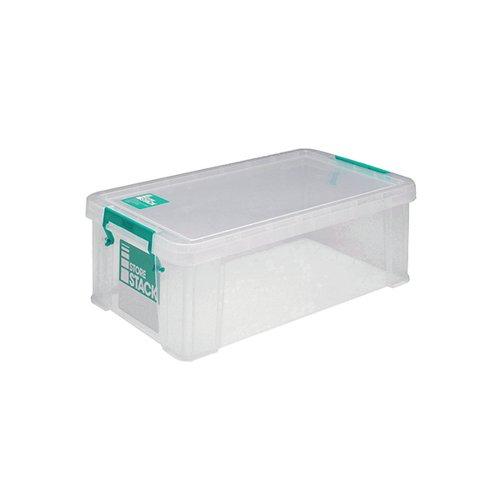 StoreStack 7.5 Litre Storage Box W250xD190xH160mm Clear RB00817