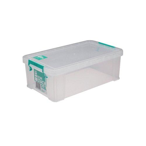 StoreStack 5.8 Litre Storage Box W350xD190xH120mm Clear RB90122