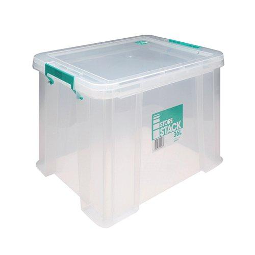 StoreStack 36 Litre Storage Box W480xD380xH320mm Clear RB90124