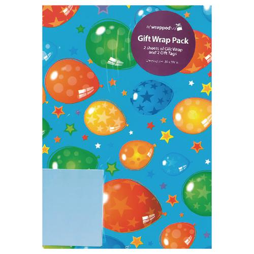Regent Packaged Wrap Blue Balloons (Pack of 12) F322