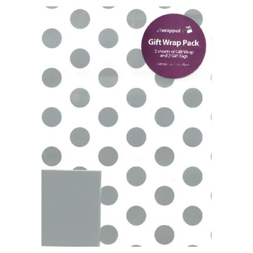 Regent Packaged Wrap Silver Spots (Pack of 12) F746
