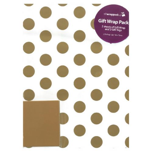 12 x Regent Packaged Wrap Gold Spots (Includes labels) F747