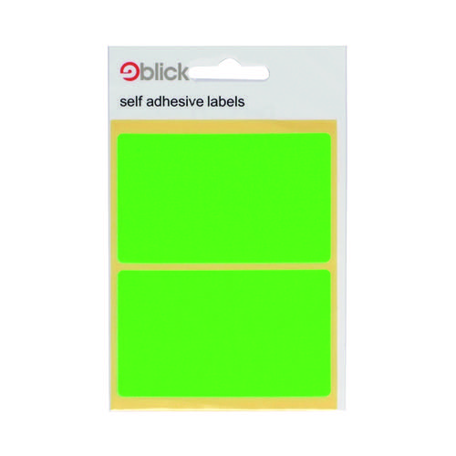 Blick Green Fluorescent Labels in Bags 50x80mm (Pack of 160) 4