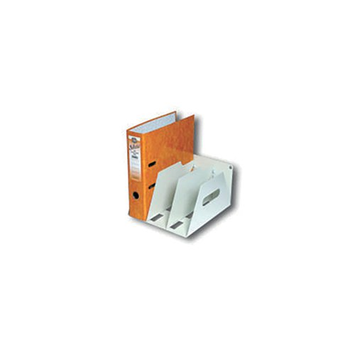 Image for Rotadex 3-Section Lever Arch Filing Rack A4 Smoke White LAR3