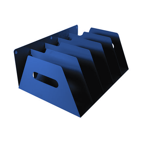 Rotadex 5-Section Lever Arch Filing Rack Blue LAR5Blue
