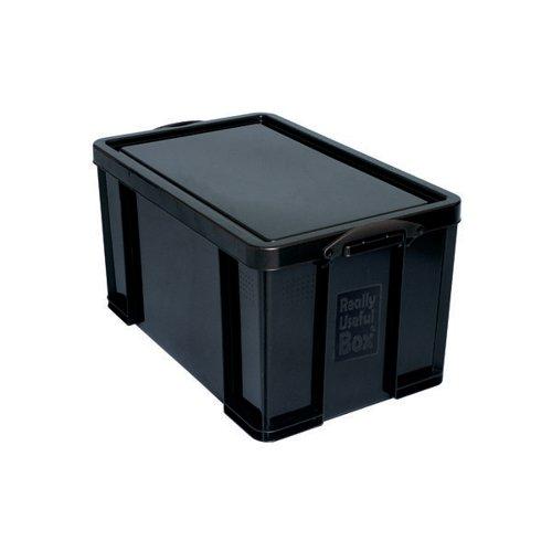 Really Useful 64L Recycled Plastic Storage Box Black 64Black R
