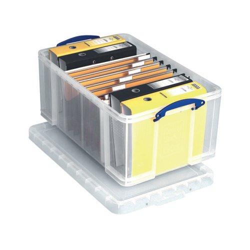 Really Useful 64L Plastic Storage Box W710xD440xH310mm Clear 64C