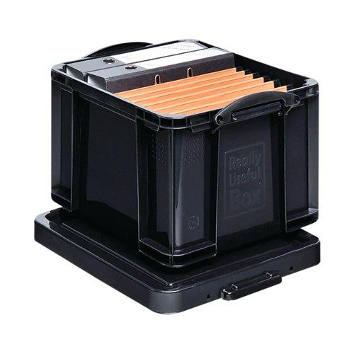 Really Useful 35L Recycled Plastic Storage Box Black 35Black R